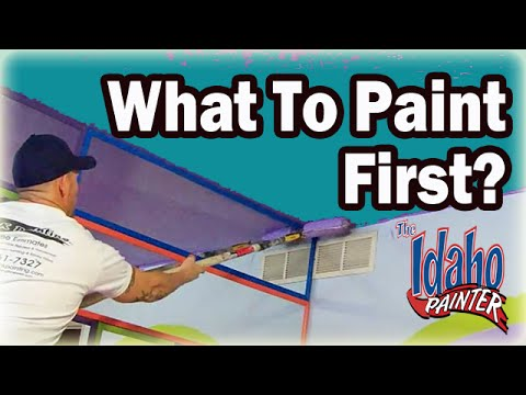 idaho painters - A video discussion on the painting process and what you should paint first on you interior painting project. What to paint first to make the job go faster an...