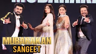 The makers of Arjun Kapoor – Anil Kapoor starer Mubarakan hosted a one-of-a-kind sangeet ceremony at The Grand Ballroom, JW Marriott in Juhu. Watch the video.Report By: Neha AntaniEdited By: Advait PansareCameraman: Deepak Prajapati.Subscribe now and watch for more of Bollywood Entertainment Videos at http://www.youtube.com/subscription_center?add_user=bollywoodnowRegular Facebook Updates https://www.facebook.com/bollywoodnow.  Twitter Updates https://twitter.com/bollywoodnow  Follow us on Pinterest: https://pinterest.com/bollywoodnow  Follow us on Google+ : https://plus.google.com/+bollywoodnow