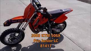 5. 2003 KTM 50SX Pro Junior LC 81417 Running