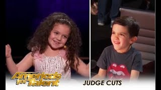 Video Sophie Fatu: Simon Sets Up His Son Eric With YOUNGEST Contestant Ever! | America's Got Talent 2018 MP3, 3GP, MP4, WEBM, AVI, FLV Oktober 2018