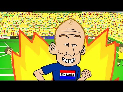 🇧🇷AUSTRALIA vs HOLLAND 2-3🇧🇷 by 442oons (World Cup 2014 Cartoon Robben Goal 18.6.14)