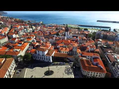 Funchal, Madeira, Portugal - view by drone - 2016