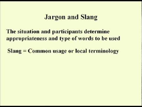 ENG 352 Technical Writing - 14 - Jargon und Slang