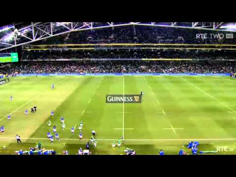 Dave Kearney's try double on Ireland debut