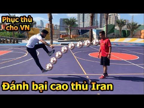 Thử Thách Bóng Đá DKP Việt Nam so tài cao thủ Iran Asian Cup 2019 với Skills đỉnh như Ronaldo - Thời lượng: 10 phút.