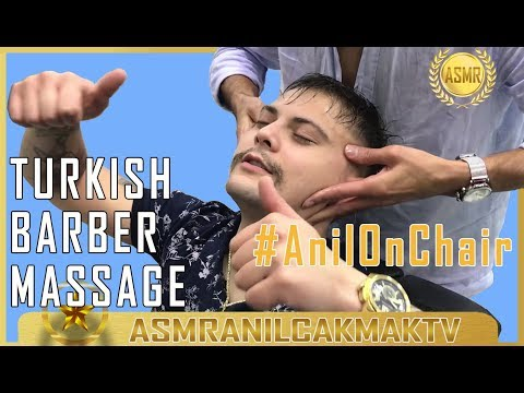 ASMR Massage & Haircut ( What about the barber himself? ) #AnilOnChair