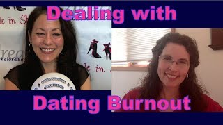 Top dating & relationship coach for women over 40, tells you how to deal with dating burnout.Suzanne Oshima is a Matchmaker & Dating Coach at Dream Bachelor & Bachelorette: http://www.dreambachelor.com3 Secrets Guaranteed to Attract Any Man!Get the Free Report Now!http://www.singleinstilettos.com/m-3-secrets-attract-man-ytGet relationship advice for women over 40 & relationship tips for women from a top dating coach for women over 40 & 50.Suzanne Oshima, Matchmaker & Dating Coach at Dream Bachelor & Bachelorette & the Founder of Single in Stilettos (http://www.singleinstilettos.com) interviews Duana Welch, Dating & Relationship CoachSponsored by CupidsPulse http://www.cupidspulse.comDating advice for women over 40. Dating advice for women over 50.Get the best dating advice for women over 50 from Duana Welch..Stay tuned for the next Single in Stilettos Weekly Show and get the best dating advice & dating tips!