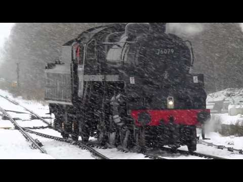 4MT 76079 on the Esk Valley Railway at Battersby in the s...