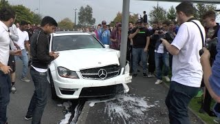 Video Mercedes C63 AMG - CRASH & REACTION at Gumball Meet!! MP3, 3GP, MP4, WEBM, AVI, FLV Mei 2017