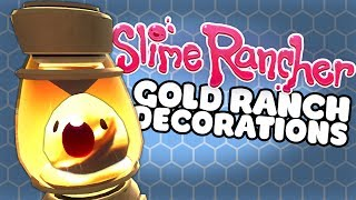 Let's Play Slime Rancher 0.6.0 Update and make all of the Gold Plort Slime Science Gadgets like the Gold Slime Lamp and Gold Teleporter. He also gathers Fire Slime Plorts to make the Glass Desert decorations to put on the new dock area!.➤Let's Play Slime Rancher Ep 1 and Playlist: https://www.youtube.com/playlist?list=PLX1cB1BI8l6l5NHJMY4cwnJzYP5dDTUy-Slime Rancher Download for PC, Mac and Linux:http://www.slimerancher.com/Slime Rancher Trailer:https://www.youtube.com/watch?v=iAfP-JCjrmcThere are 4 NEW slimes coming in the Slime Rancher 0.6.0 update when the glass desert arrives! Josh shows you the Mosaic Slime, Tangle Slime, Dervish Slime and Fire Slime all coming in the new slime rancher update. There's lots of new pictures and gifs to see of the cute dervish slime swirling, mosaic slime on fire and the tangle slime catching chickens in the glass desert!---➤Buy a Shirt! - http://shop.spreadshirt.com/GamingFTL➤Support Josh's video creation - http://www.patreon.com/GamingFTL➤Stalk me on Twitter - https://twitter.com/GamingFTL➤Join the Discord community -  https://discord.gg/XnvRSW7If I say something that bothers or you or that you think was ill-considered, please let me know. I can't promise to be perfect, but I can promise to try to listen, learn, and apologise when I screw up. ✌---