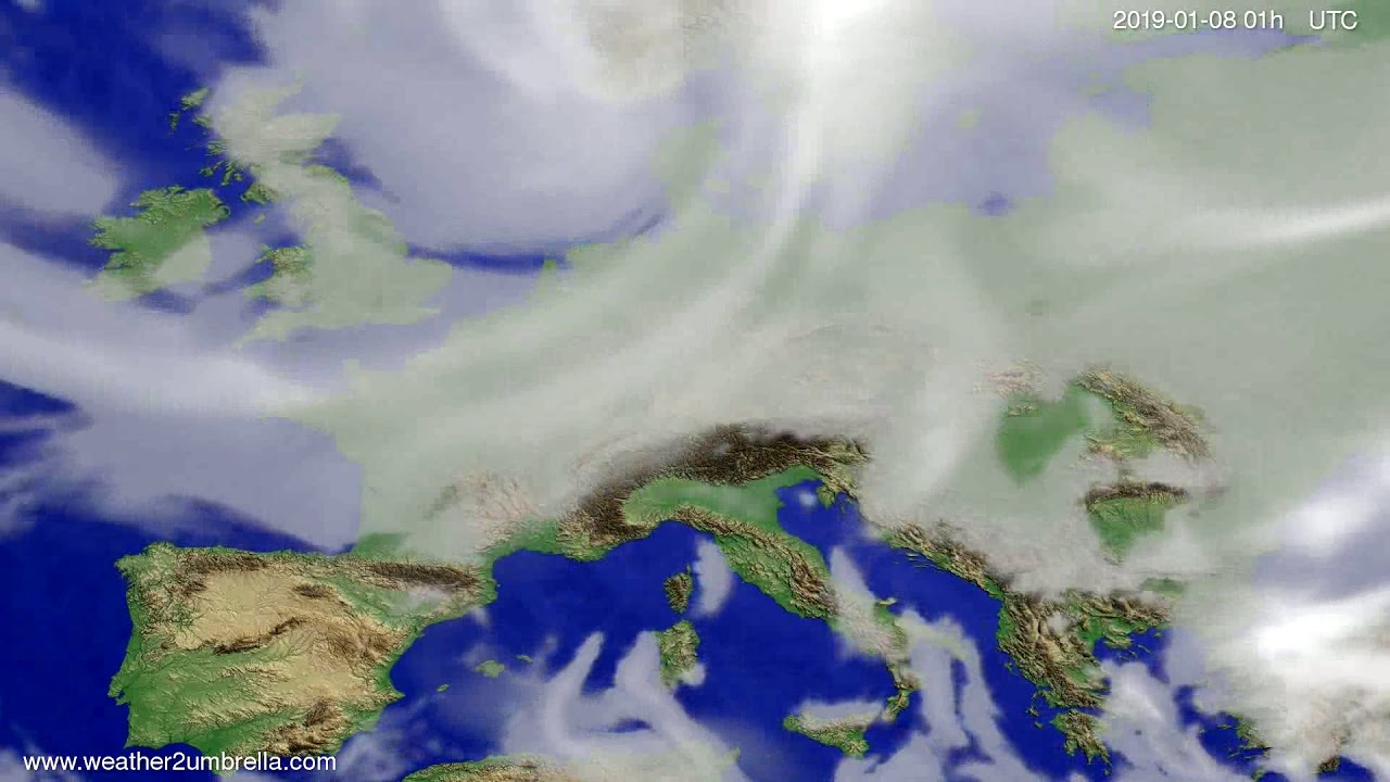 Cloud forecast Europe 2019-01-04