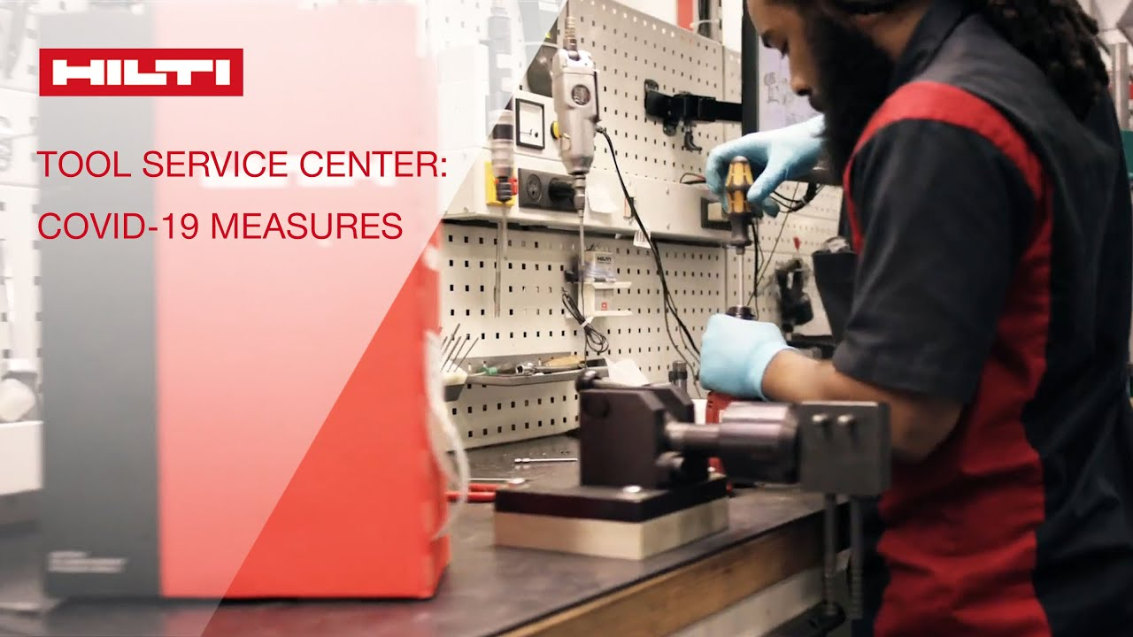 Hilti adjusted tool repair processes as part of COVID-19 safety measures