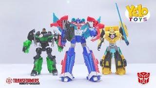 Download Lagu Transformers: Robot In Disguise -  Optimus Prime Bumblebee Grimlock - unboxing Mainan Anak Mp3