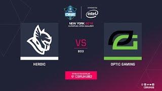 Heroic vs OpTic - ESL One NY EU Quals - map2 - de_mirage [GodMint]
