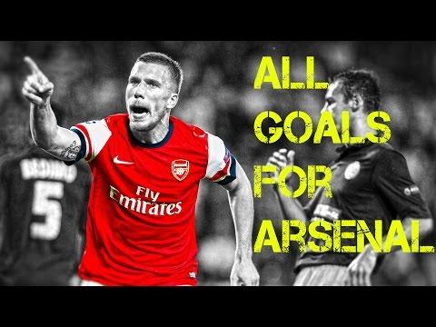 Podolski 2012-2015 Arsenal'de attığı tüm goller
