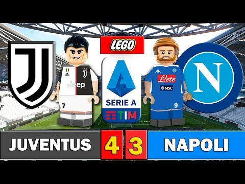 Juventus 4 - 3 Napoli - Fútbol LEGO - Serie A / Resumen y goles - Stop Motion - Ronaldo Higuaín
