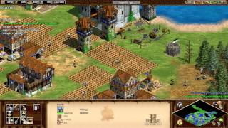 Age of Empires 2 HD - 1v1 Vikings vs Franks Video