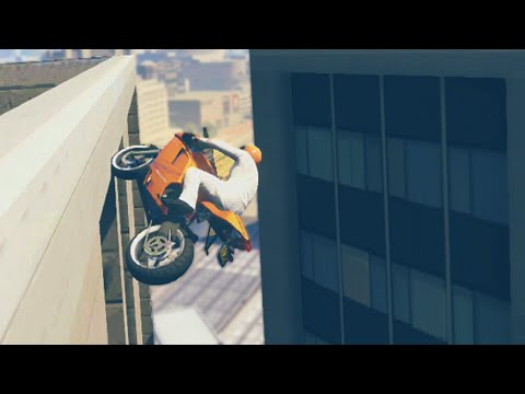Extraordinary Stunting Bike Race (GTA 5 Funny Moments)