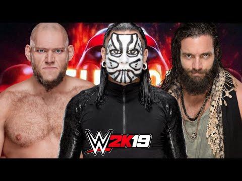 JEFF HARDY vs LARS SULLIVAN vs ELIAS AT HELL IN A CELL | WWE 2K19 RETURNS