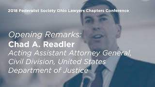 Click to play: Opening Remarks by Chad A. Readler