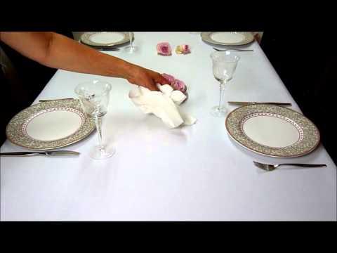 Produktvideo Tischdecke Leinen Optik mit Lotus Effekt