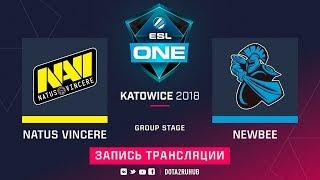 Natus Vincere vs NewBee, ESL One Katowice, game 1 [Maelstorm, LighTofHeaveN]