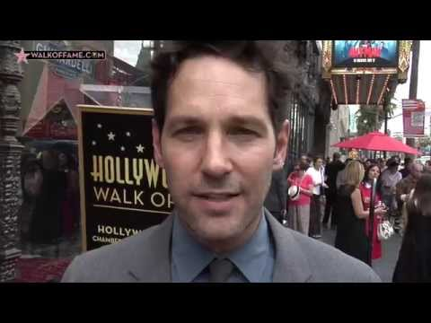 Paul Rudd Walk of Fame Ceremony