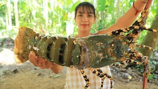Video Yummy cooking 300$ GIANT RAINBOW LOBSTER recipe - Cooking skill MP3, 3GP, MP4, WEBM, AVI, FLV April 2019