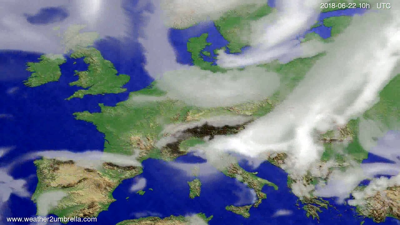 Cloud forecast Europe 2018-06-20