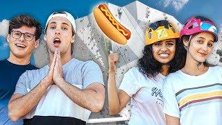 Hot Dog Climbing Wall Challenge w/ Hailey Sani & Mikey Murphy | The Carpe Challenge: Chicago