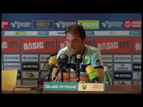 Persconferentie Petrovic voor duel met Heerenveen