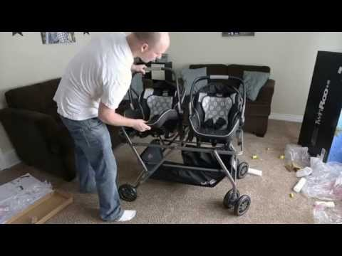 Best Stroller for Twins Newborn and Infant Car Seat Frame - Joovy Twin Roo +