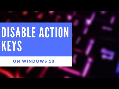 , title : 'How to- enable or disable action keys on Windows 10'