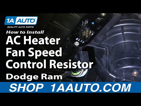 How To Install Repair Replace AC Heater Fan Speed Control Resistor Dodge Ram 02-08 1AAuto.com