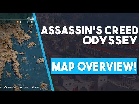 Assassin's Creed Odyssey ENTIRE MAP OVERVIEW!