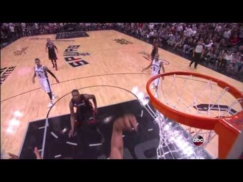 Tim Duncan blocks LeBron James