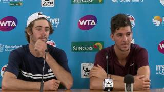 Thanasi Kokkinakis and Jordan Thompson press conference after they defeated Gilles Muller and Sam Querrey to win in straight sets