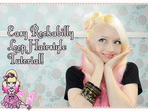 How To Do An Easy Rockabilly Loop Hairstyle - Tutorial - Violet LeBeaux