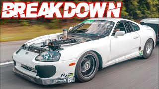 2000HP Supra 6 Second 1\4 Mile Full Analysis (0-60MPH in 1s! | 210MPH in 6 Seconds - Billet 2JZ) by  That Racing Channel