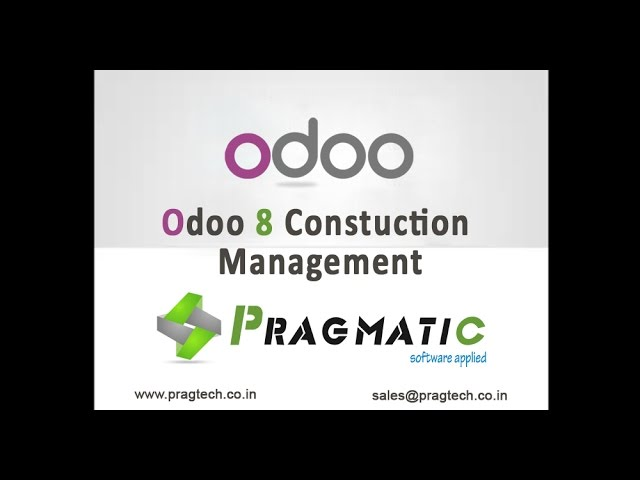 Odoo OpenERP 8 Construction Management