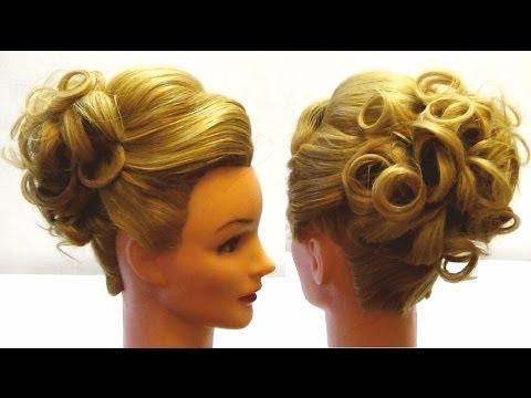 Праздничная прическа на длинные волосы из кос своими руками