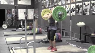 Daily Training 10-20-14 - Audra clean pull Danielle jerk Audra clean pull on riser Brian power clean + power jerk Dion power clean Danielle push press - Catalyst Athletics Olympic Weightlifting Videos