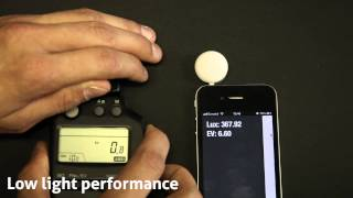 Lumu light meter measuring accuracy -