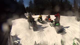 10. 2014 Arctic Cat zr 9000  demo ride, GoPro