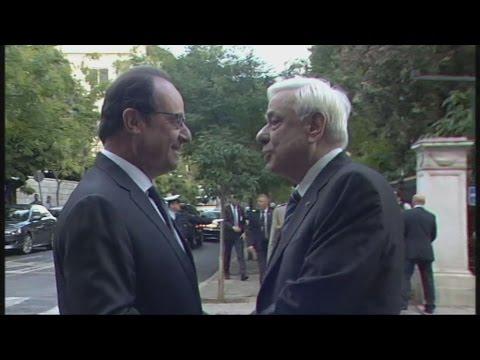 Συνάντηση του Προέδρου της Δημοκρατίας με τον Πρόεδρο της Γαλλικής Δημοκρατίας