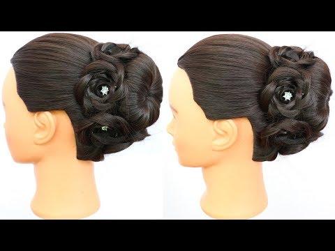 Hairstyles for long hair - easy juda hairstyle for long hair  wedding guest hairstyle  party hairstyle  juda hairstyle