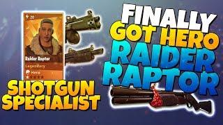 I FINALLY GOT RAIDER RAPTOR! LVL 100 Collection Book! | Fortnite Save The World