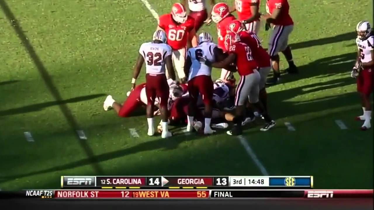 Aaron Murray vs South Carolina (2011)
