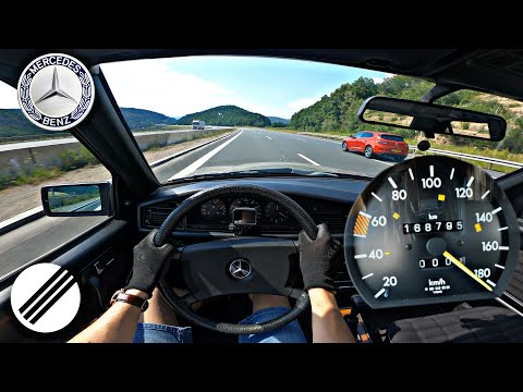 1988 MERCEDES-BENZ 190D W201 72HP TOP SPEED DRIVE ON GERMAN AUTOBAHN 🏎
