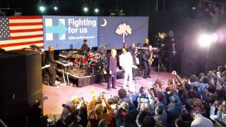 Charlie Wilson & Hillary Clinton at GOTV Rally in Charleston, SC